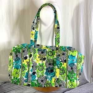 Vera Bradley Large Duffel in Limes Up Fabric